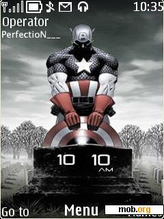 Download free captain america theme for Symbian S40 5th Edition