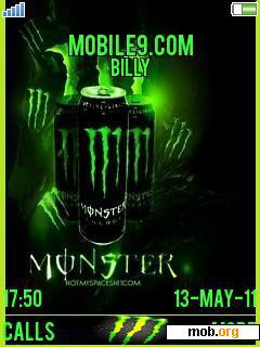 Download Free Monster Energy Theme For Sony Ericsson 4 8
