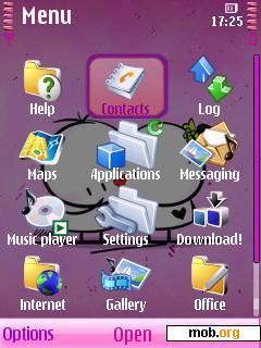 Download Free Bigli Migli By Lovenegin Theme For Symbian Os