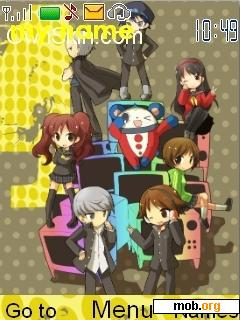 Download free Persona 4 chibi theme for Symbian S40 5th Edition