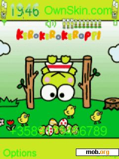 Download free animated keroppi theme for Symbian OS 9 1 / S60 3rd
