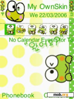 Download free keroppi theme for Symbian OS 9 1 / S60 3rd