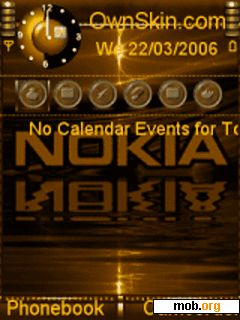 Download free Animated nokia gold S60V3 theme for Symbian OS