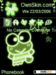 Download free cute keroppi theme for Symbian OS 9 1 / S60 3rd Edition