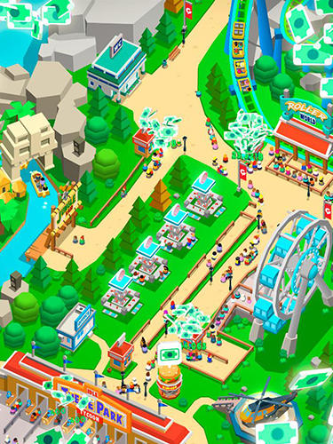 Idle theme park tycoon: Recreation game на русском языке