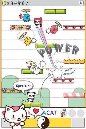Arcade-Spiele: Lade Ninjakatze und die Süßigkeitenfabrik auf dein Handy herunter