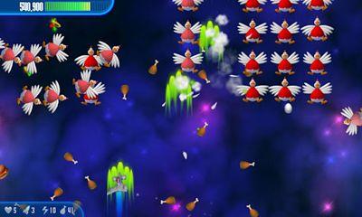 飞行游戏 小鸡入侵者3英语