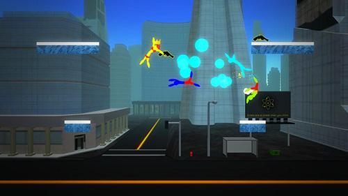 Stick man fight: Battle online. 3D game captura de pantalla 1