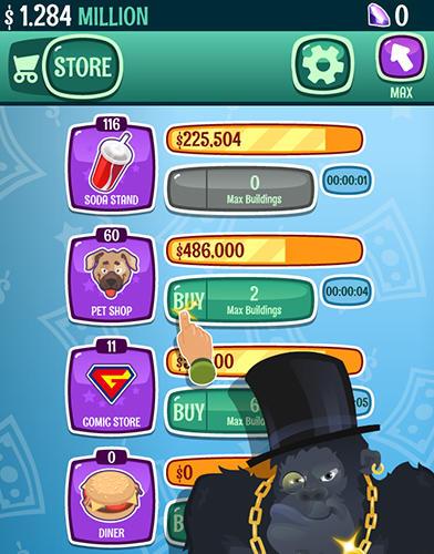 Millionaire to billionaire tycoon: Clicker game auf Deutsch