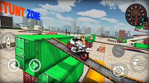 Extreme bike simulator Screenshot