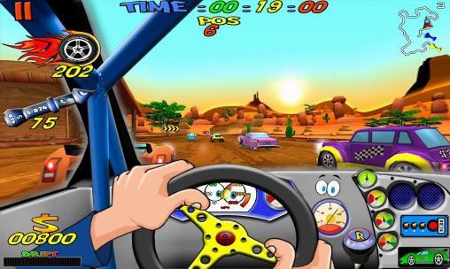 Cartoon racing auf Deutsch