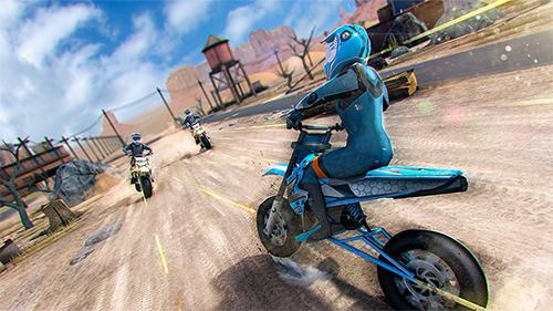 Rennspiele Realistic bike 3D: Scooter race für das Smartphone