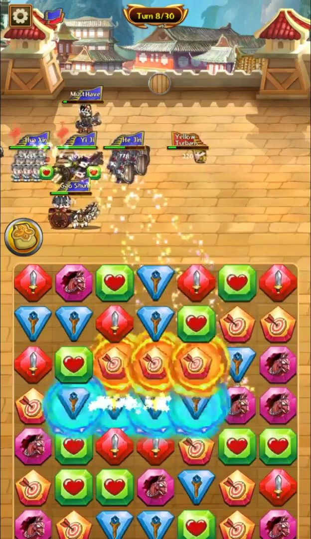 Match 3 Kingdoms: Epic Puzzle War Strategy Game captura de tela 1
