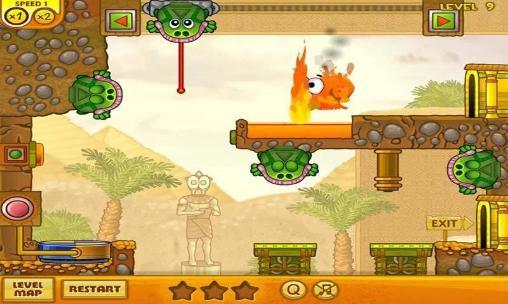 Arcade-Spiele Snail Bob 3: Egypt journey für das Smartphone