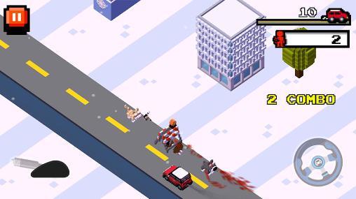 Pixel Crush road: Road fighter auf Deutsch