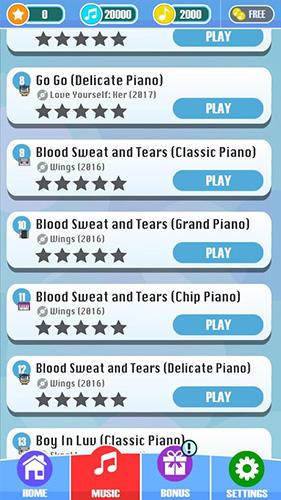 Arcade-Spiele Magic tiles: BTS edition für das Smartphone