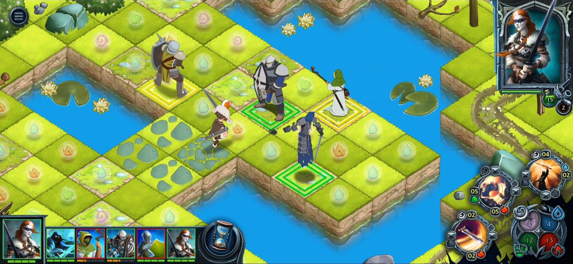 Heroes of War Magic.  Turn-based strategy capture d'écran 1