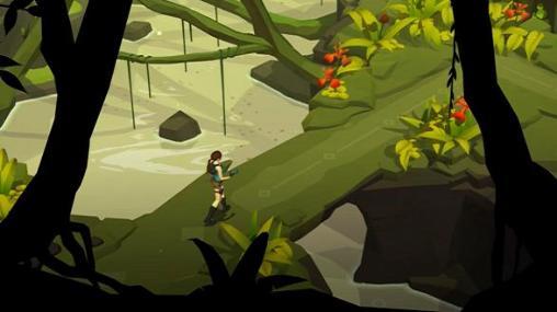 Rätselspiele Lara Croft go für das Smartphone