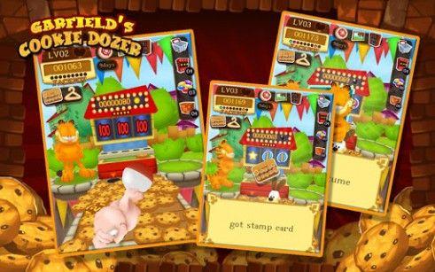 Glücksspiel Garfield's cookie dozer für das Smartphone