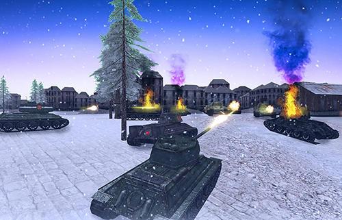 Tank battle 3D: WW2 warfare für Android