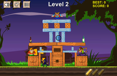 Shooter Cowboy Pixel Turm - Wirf sie runter und zerstöre den Turm! auf Deutsch