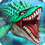 Dino water world icon
