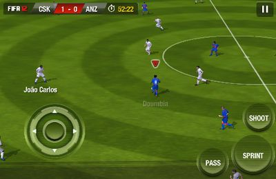 Captura de tela FIFA'12 no iPhone
