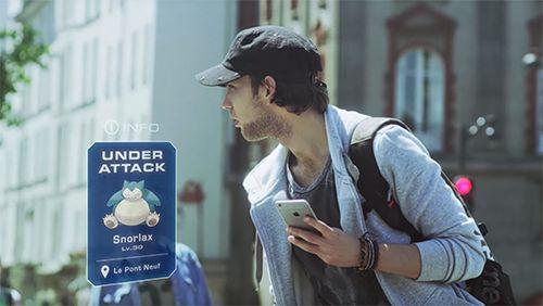 截图Pokemon go!在iPhone