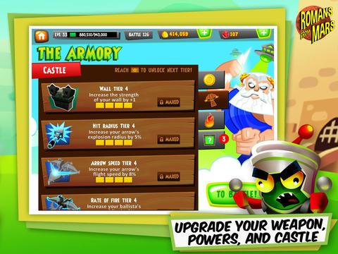 Arcade-Spiele: Lade Römer vom Mars auf dein Handy herunter