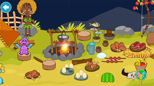 My stone age town: Jurassic caveman games for kids英语
