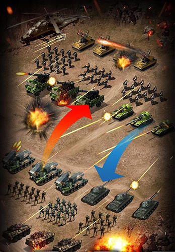 Onlinespiele Empire strike: Modern warlords für das Smartphone