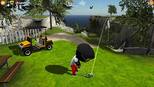 Golf-Spiele Stickman cross golf battle auf Deutsch