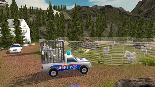 Simulation Angry animals: Police transport für das Smartphone