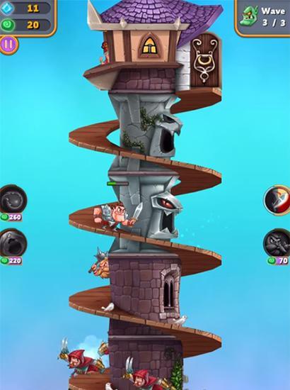 Strategie Tower knights für das Smartphone