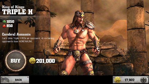 Online games WWE Immortals in English