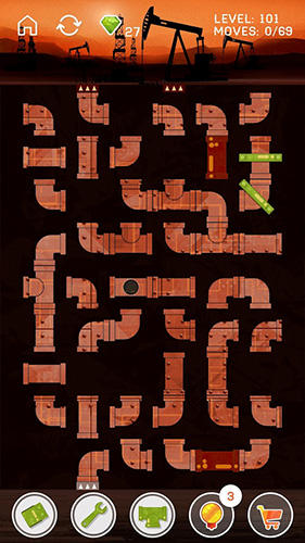 Pipes game: Free puzzle for adults and kids auf Deutsch