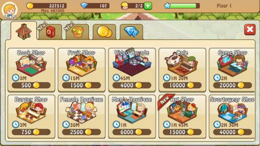 Strategie Happy mall story: Shopping sim für das Smartphone