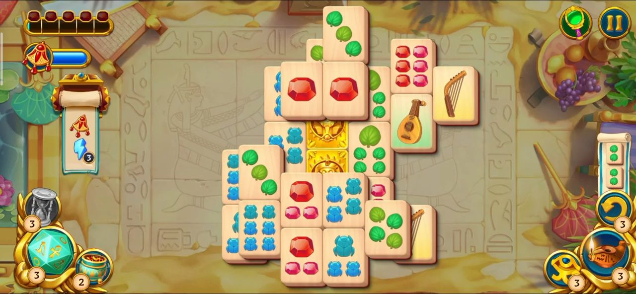 Pyramid of Mahjong: A tile matching city puzzle screenshot 1