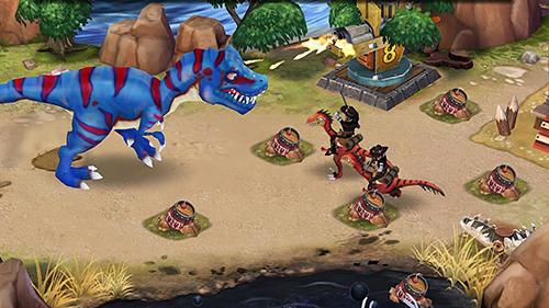 Online Strategiespiele Dino wars auf Deutsch