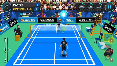 3D pro badminton challenge auf Deutsch