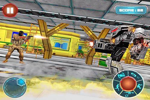 FPS Robots war space clash mission auf Deutsch