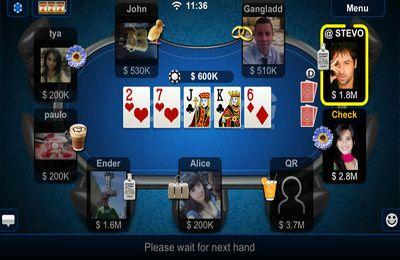 Screenshot Texas Holdem Poker auf dem iPhone