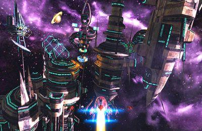 Screenshot Anfang des Galaxie - Phantasy auf dem iPhone