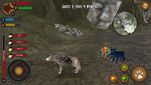 Simulator-Spiele Wolves of the forest für das Smartphone