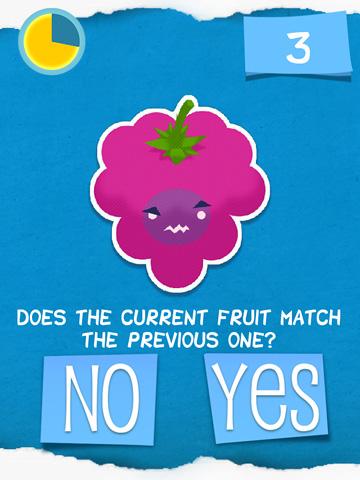 Screenshot Duselige Frucht? auf dem iPhone