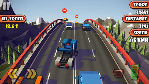 Arcade Highway traffic racer planet für das Smartphone