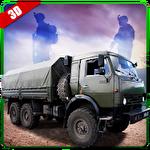 Army truck driver 3D ícone