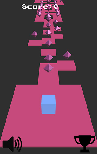 Arcade-Spiele Cubing around für das Smartphone