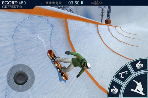 Screenshot Snowboard Party auf dem iPhone
