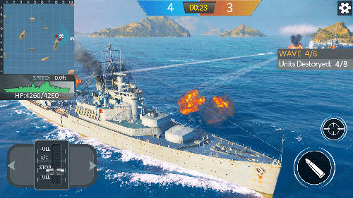 Warship sea battle for Android